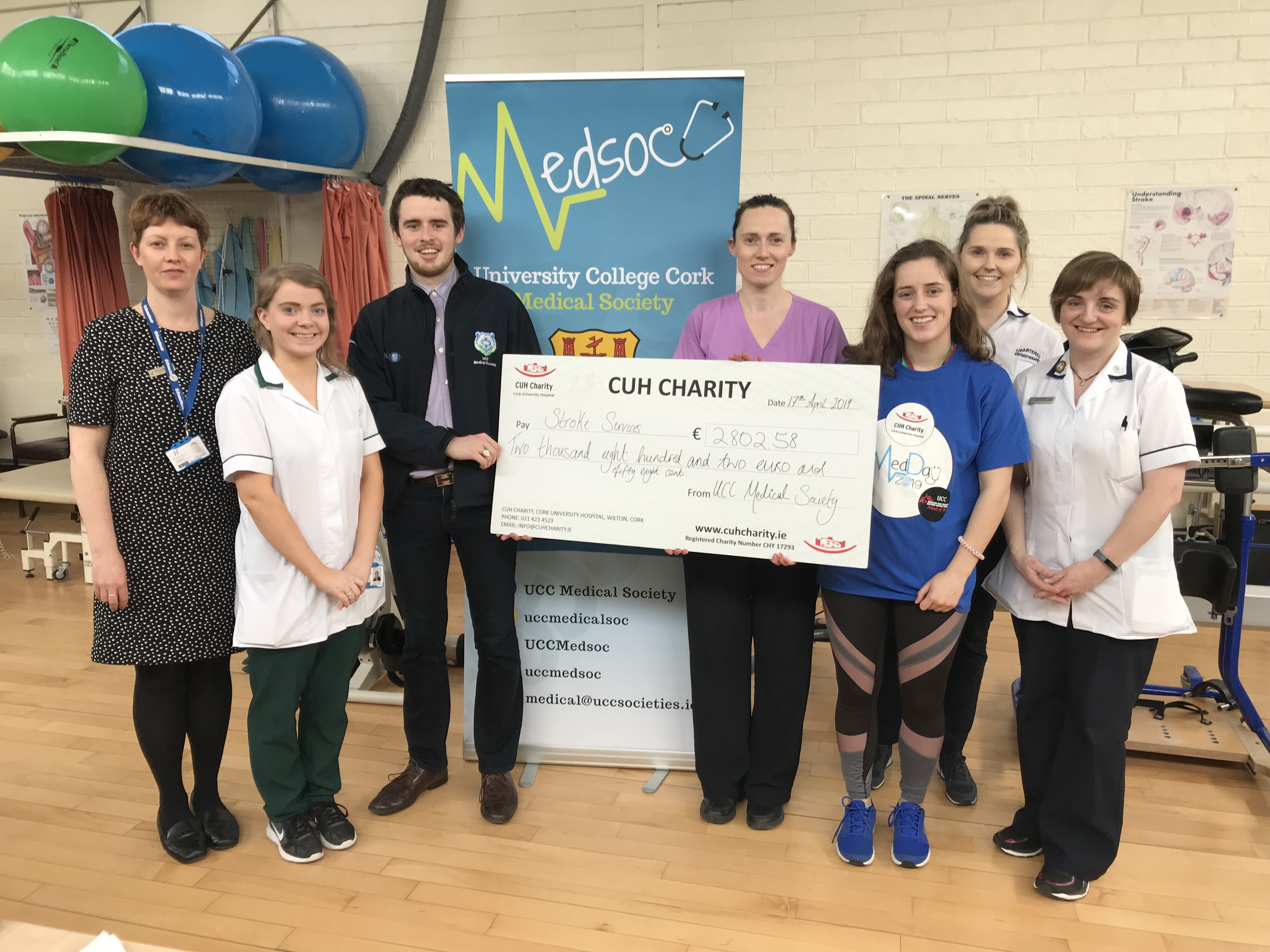 The very first 'UCC Med Day' raises funds for a new Stroke
