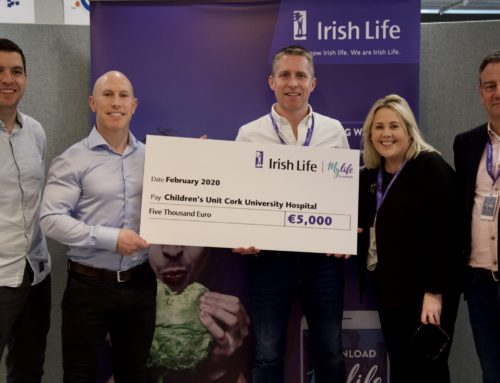 €5,000 Irish life donation to Children's Unit as Team Peter stringer wins Ireland Am steps challenge
