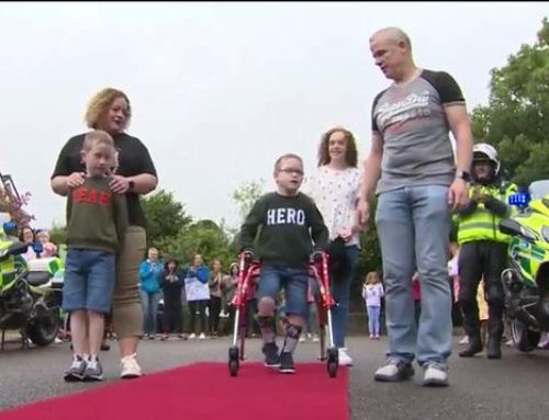 HEROIC OLIVER LYNCH COMPLETES 5K FUNDRAISING WALK